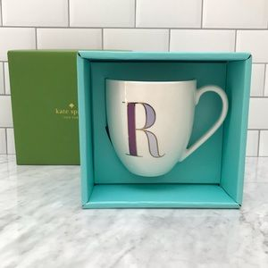 """Authentic Kate Spade """"It's Personal"""" Initial Mug R"""